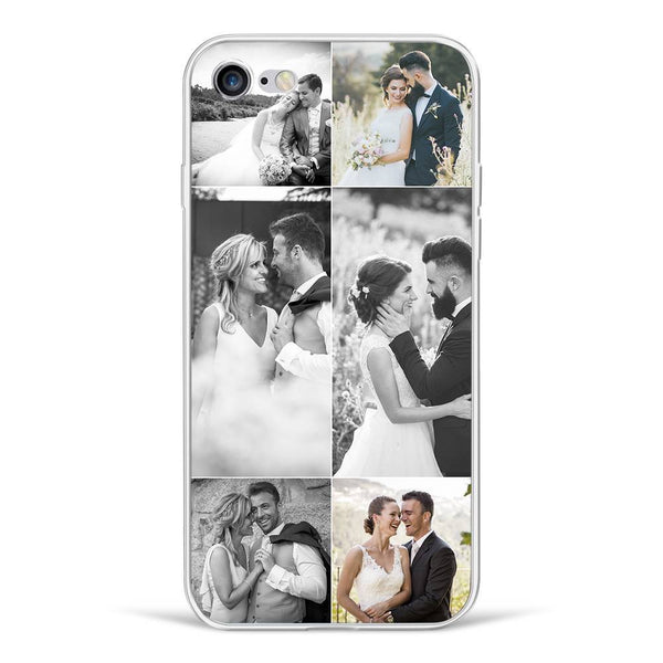 iPhone7/8 Custom Photo Protective Phone Case - 6 Pictures Soft Shell Matte