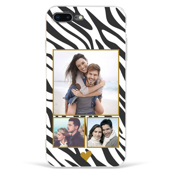 iPhone7p/8p Custom Photo Protective Phone Case - 3 Pictures Soft Shell Matte