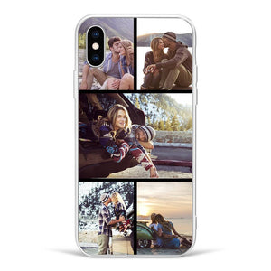 iPhoneX Custom Photo Protective Phone Case - 5 Pictures Soft Shell Matte