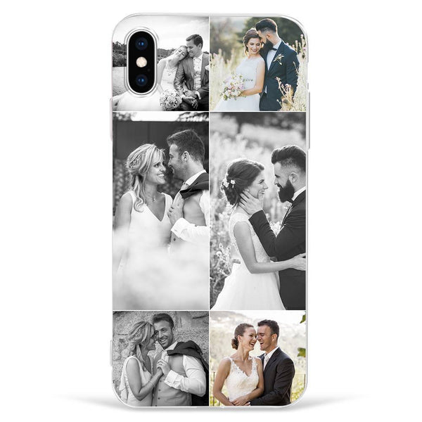 IphoneXs Max Custom Photo Protective Phone Case - 6 Pictures Soft Shell Matte