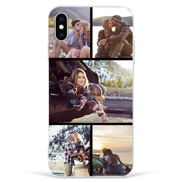 IphoneXs Max Custom Photo Protective Phone Case - 5 Pictures Soft Shell Matte