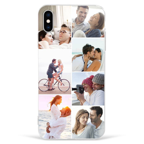 IphoneXs Max Custom Photo Protective Phone Case - 7 Pictures Soft Shell Matte