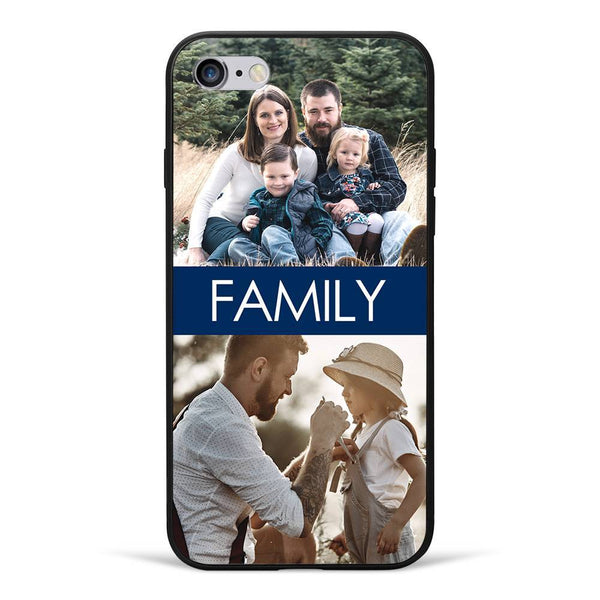 iPhone6/6s Custom Photo Protective Phone Case - 2 Pictures with Name Soft Shell Matte
