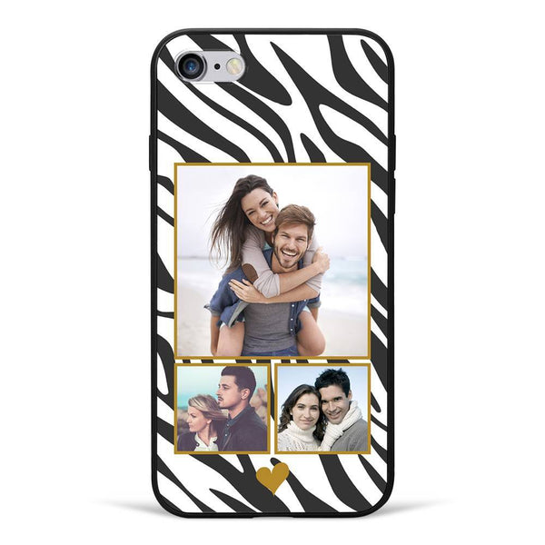 iPhone6/6s Custom Photo Protective Phone Case - 3 Pictures Soft Shell Matte