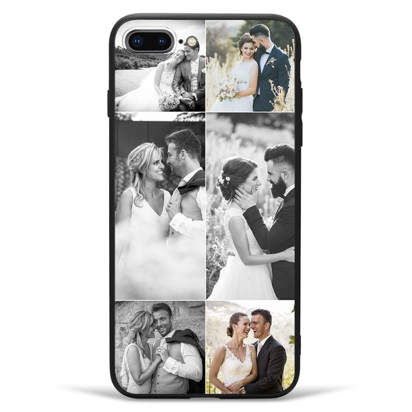 iPhone7p/8p Custom Photo Protective Phone Case - 6 Pictures Soft Shell Matte
