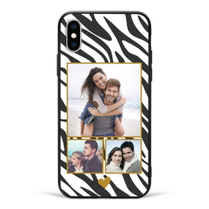 iPhoneX Custom Photo Protective Phone Case - 3 Pictures Soft Shell Matte
