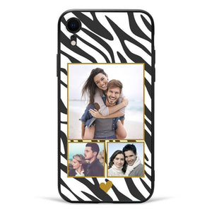 iPhoneXr Custom Photo Protective Phone Case - 3 Pictures Soft Shell Matte