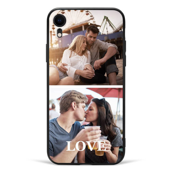 iPhoneXr Custom Photo Protective Phone Case - 2 Pictures Soft Shell Matte
