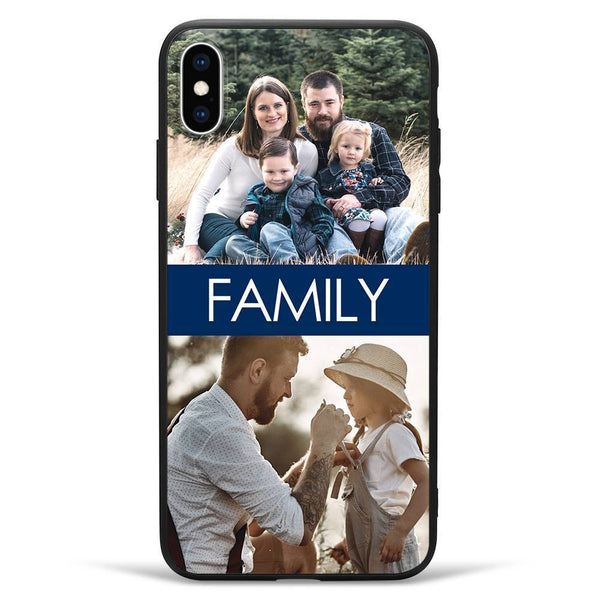 iPhoneXs Max Custom Photo Protective Phone Case - 2 Pictures with Name Soft Shell Matte