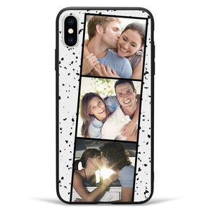 iPhoneXs Max Custom Photo Protective Phone Case - 3 Pictures Soft Shell Matte