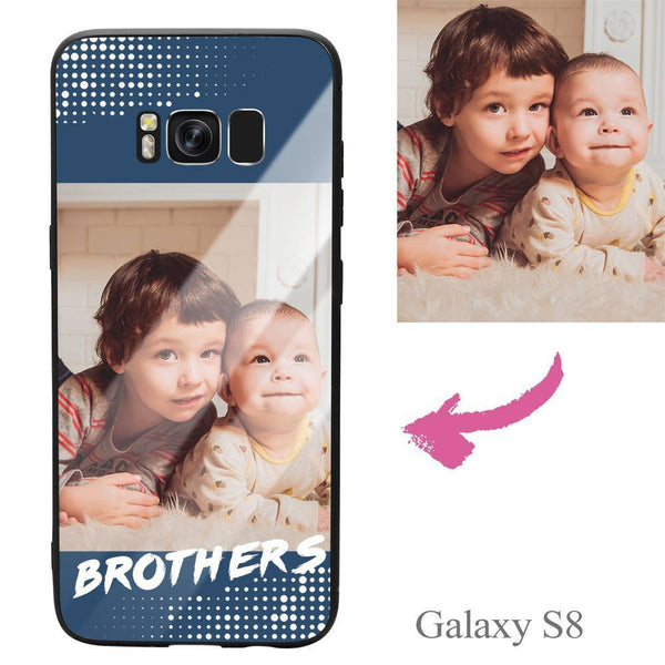 "Galaxy S8 Custom ""Brothers"" Photo Protective Phone Case - Glass Surface"