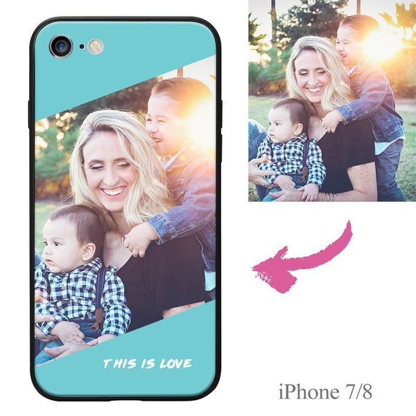 "iPhone7/8 Custom ""This Is Love"" Photo Protective Phone Case Soft Shell Matte"