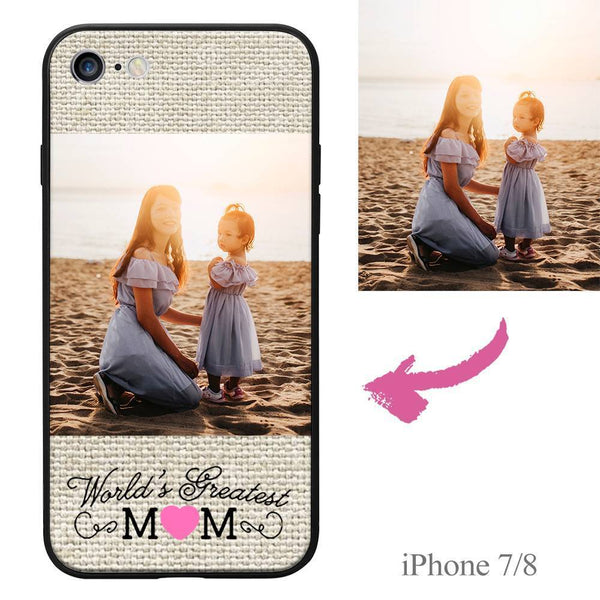 "iPhone7/8 Custom ""Mom"" Photo Protective Phone Case Soft Shell Matte"