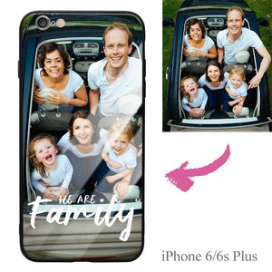 "iPhone6p/6sp Custom ""We Are Family"" Photo Protective Phone Case - Glass Surface"