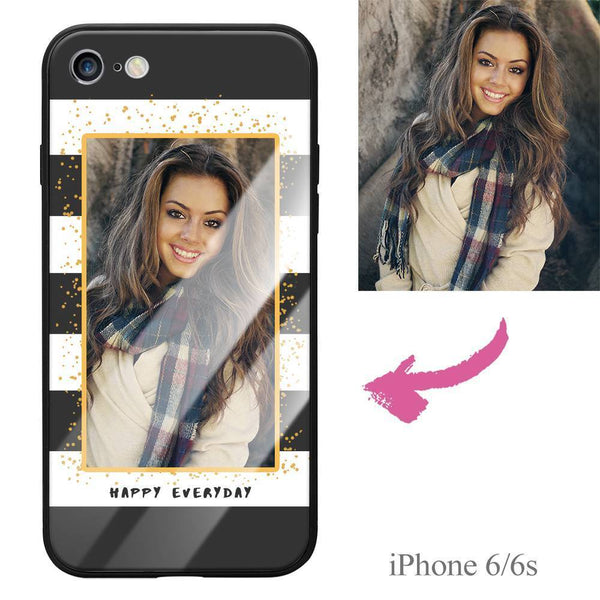 "iPhone6/6s Custom ""Happy Everyday"" Photo Protective Phone Case - Glass Surface"