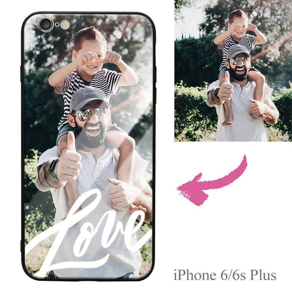 iPhone6p/6sp Custom Love Photo Protective Phone Case - Glass Surface