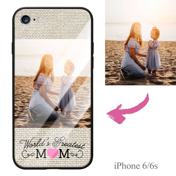 "iPhone6/6s Custom ""Mom"" Photo Protective Phone Case - Glass Surface"