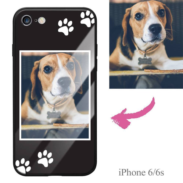 iPhone6/6s Custom Dog Photo Protective Phone Case - Glass Surface