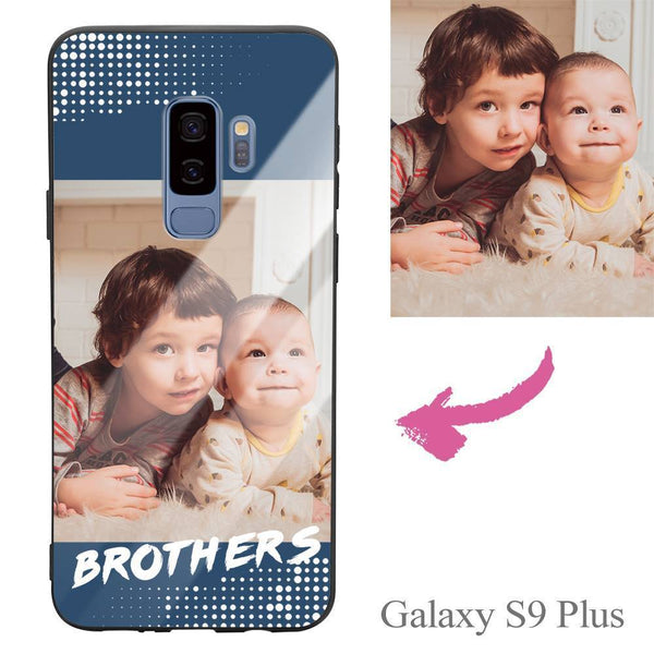 "Galaxy S9 Plus Custom ""Brothers"" Photo Protective Phone Case - Glass Surface"