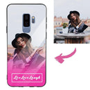 "Galaxy S9 Plus Custom ""Live Love Laugh"" Photo Protective Phone Case - Glass Surface"