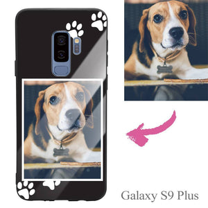 Galaxy S9 Plus Custom Dog Photo Protective Phone Case - Glass Surface