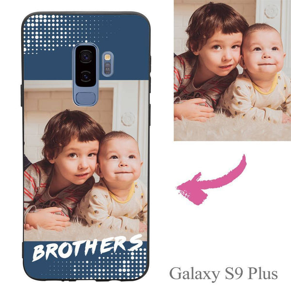 "Galaxy S9 Plus Custom ""Brothers"" Family Photo Protective Phone Case Soft Shell Matte"