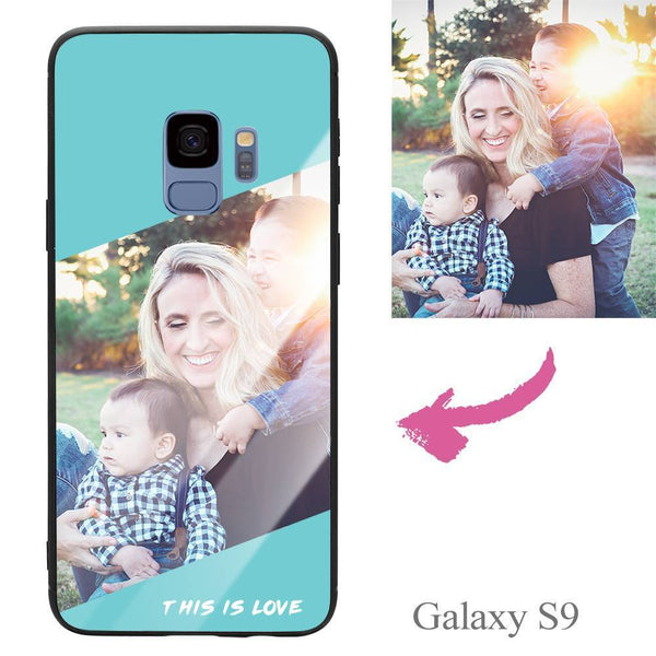 "Galaxy S9 Custom ""This Is Love"" Photo Protective Phone Case - Glass Surface"