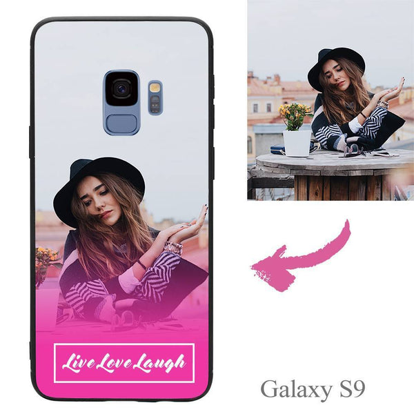 "Galaxy S9 Custom ""Live Love Laugh"" Photo Protective Phone Case Soft Shell Matte"