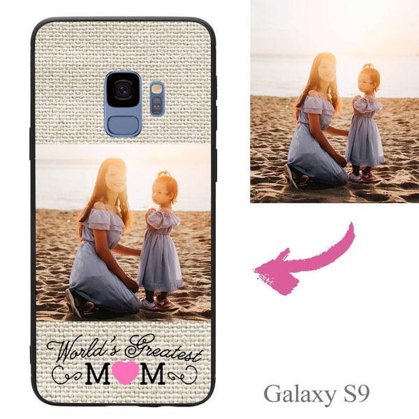 "Galaxy S9 Custom ""Mom"" Photo Protective Phone Case Soft Shell Matte"