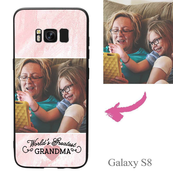 "Galaxy S8 Custom ""Grandma"" Photo Protective Phone Case Soft Shell Matte"