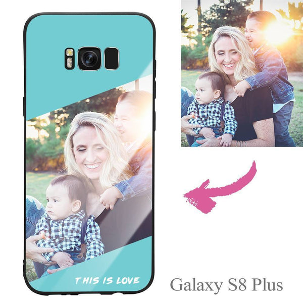 "Galaxy S8 Plus Custom ""This Is Love"" Photo Protective Phone Case - Glass Surface"