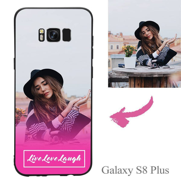 "Galaxy S8 Plus Custom ""Live Love Laugh"" Photo Protective Phone Case Soft Shell Matte"