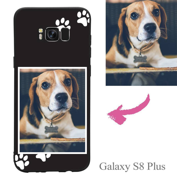 Galaxy S8 Plus Custom Dog Photo Protective Phone Case Soft Shell Matte