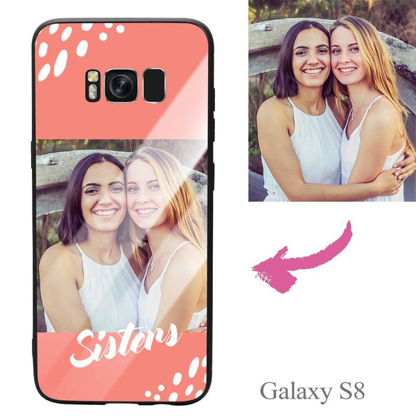 "Galaxy S8 Custom ""Sisters"" Photo Protective Phone Case - Glass Surface"