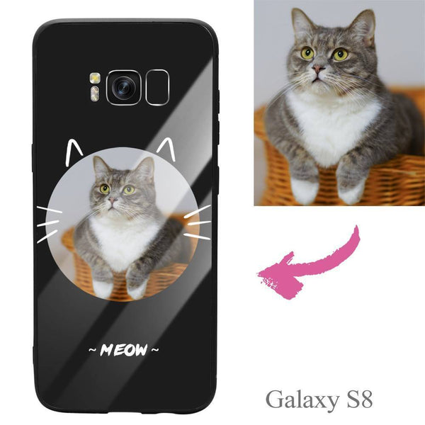 Galaxy S8 Custom Cat Photo Protective Phone Case - Glass Surface