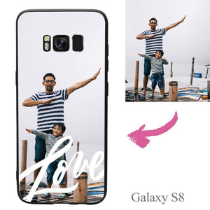 Galaxy S8 Custom Love Photo Protective Phone Case Soft Shell Matte