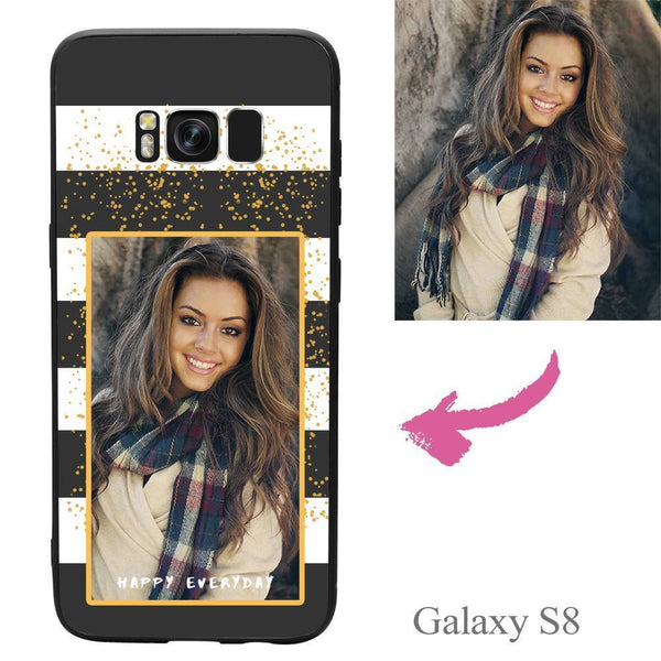 "Galaxy S8 Custom ""Happy Everyday"" Photo Protective Phone Case Soft Shell Matte"