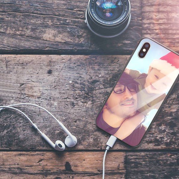 Joke iPhone Case - Custom Funny Photo Phone Case iPhone X Glass Surface
