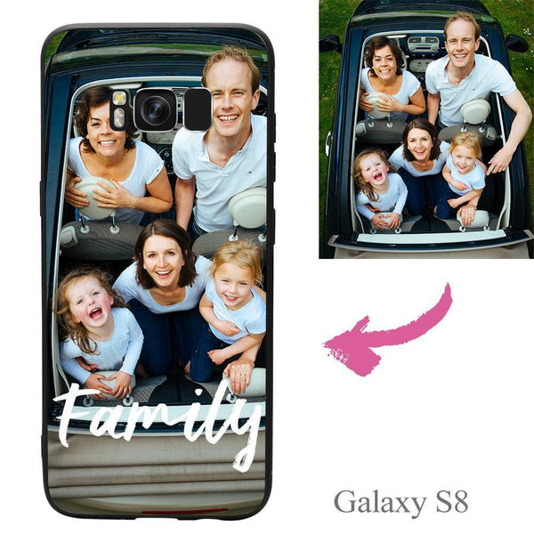 "Galaxy S8 Custom ""We Are Family"" Photo Protective Phone Case Soft Shell Matte"