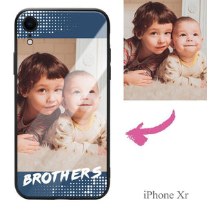 "iphoneXr Custom ""Brothers"" Photo Protective Phone Case - Glass Surface"