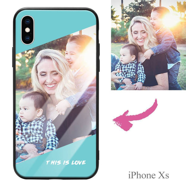 "iphoneXs Custom ""This Is Love"" Photo Protective Phone Case - Glass Surface"