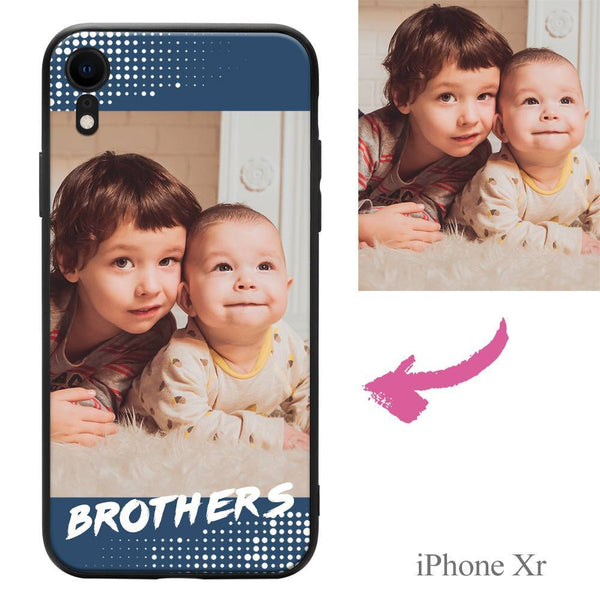 "iphoneXr Custom ""Brothers"" Family Photo Protective Phone Case Soft Shell Matte"