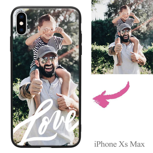 iphoneXs Max Custom Love Photo Protective Phone Case Soft Shell Matte