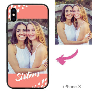 "iphoneX Custom ""Sisters"" Photo Protective Phone Case Soft Shell Matte"