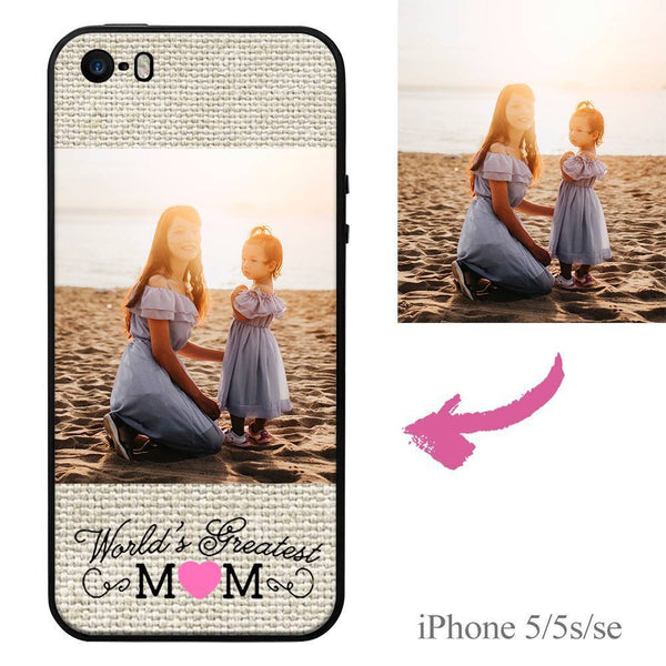 "iPhone5/5s/se Custom ""Mom"" Photo Protective Phone Case Soft Shell Matte"