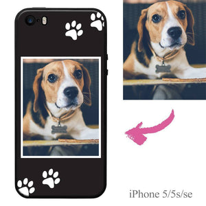 iPhone5/5s/se Custom Dog Photo Protective Phone Case Soft Shell Matte