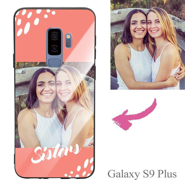 "Galaxy S9 Plus Custom ""Sisters"" Photo Protective Phone Case - Glass Surface"