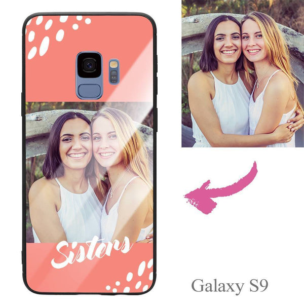 "Galaxy S9 Custom ""Sisters"" Photo Protective Phone Case - Glass Surface"