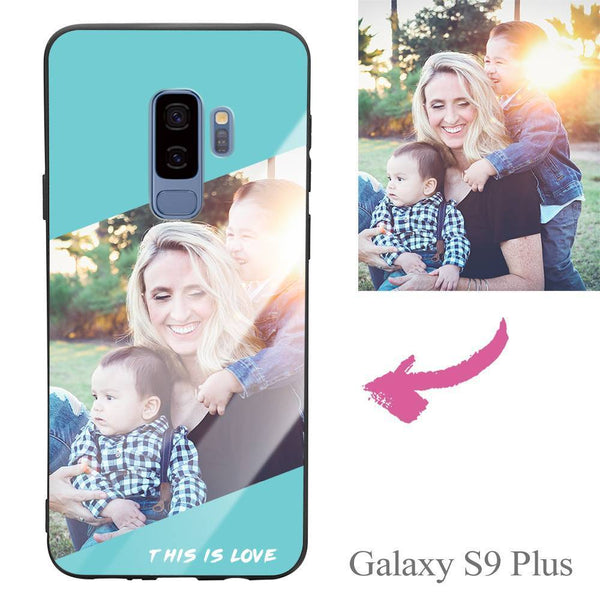 "Galaxy S9 Plus Custom ""This Is Love"" Photo Protective Phone Case - Glass Surface"