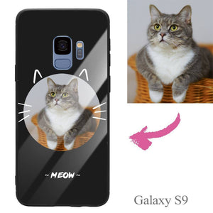 Galaxy S9 Custom Cat Photo Protective Phone Case - Glass Surface